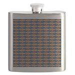 African Jewelfish Pattern on Blue Flask