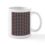 African Jewelfish Pattern on Blue Mugs