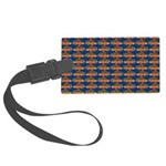African Jewelfish Pattern on Blue Luggage Tag