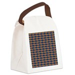 African Jewelfish Pattern on Blue Canvas Lunch Bag