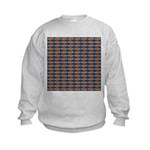 African Jewelfish Pattern on Blue Sweatshirt
