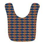African Jewelfish Pattern on Blue Polyester Baby B