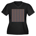 African Jewelfish Pattern on Blue Plus Size T-Shir