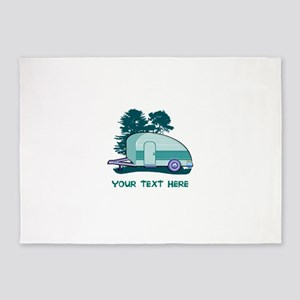 Personalize Teardrop Trailer Home 5'x7'Area Rug