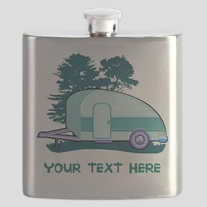 Personalize Teardrop Trailer Home Flask