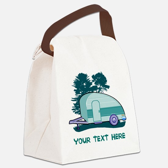 Personalize Teardrop Trailer Home Canvas Lunch Bag