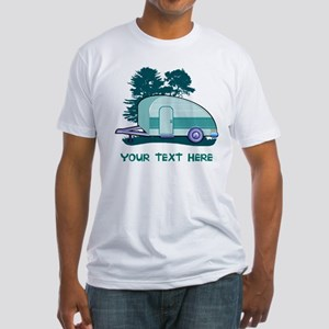 Personalize Teardrop Trailer Home Fitted T-Shirt