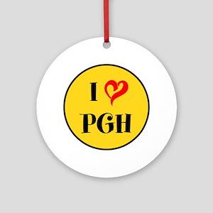 I love Pittsburgh Round Ornament