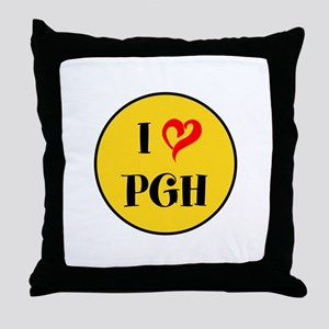I love Pittsburgh Throw Pillow