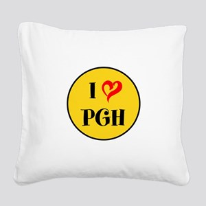 I love Pittsburgh Square Canvas Pillow