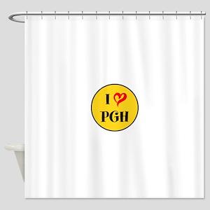 I love Pittsburgh Shower Curtain