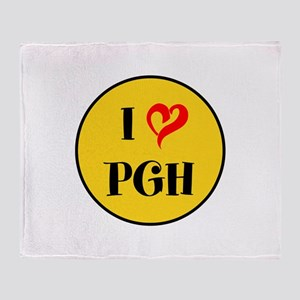 I love Pittsburgh Throw Blanket