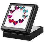 Circle of Iridescent Hearts Keepsake Box
