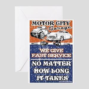 MOTOR CITY GARAGE 2 Greeting Card