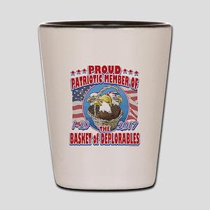 Basket of Deplorables Eagles Shot Glass