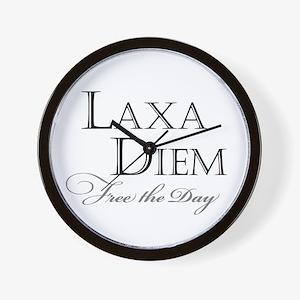 """""""Laxa Diem"""" Wall Clock"""