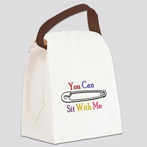 You Can Sit With Me Canvas Lunch Bag