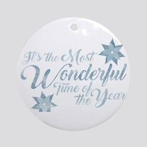 Wonderful Time Round Ornament