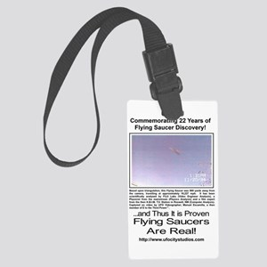 Flying Saucer Commemorative Large Luggage Tag
