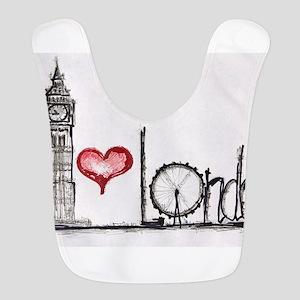 I love London Polyester Baby Bib