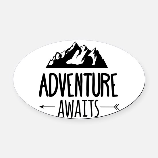 Cute Traveling Oval Car Magnet
