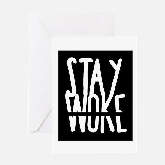Stay Woke Greeting Cards
