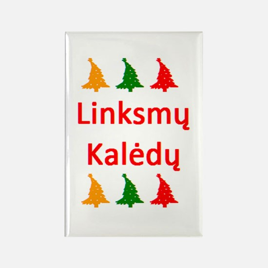 linksmy kaledy Rectangle Magnet