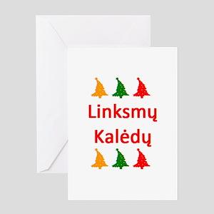 linksmy kaledy Greeting Card
