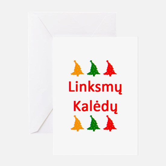 linksmy kaledy Greeting Card