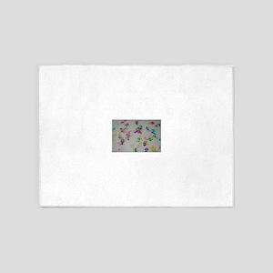 Paw Prints 5'x7'Area Rug