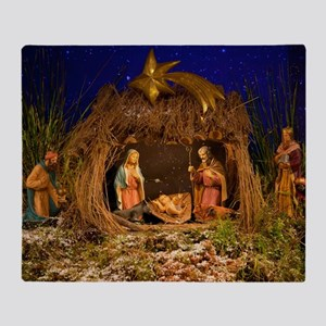 Nativity scene Throw Blanket