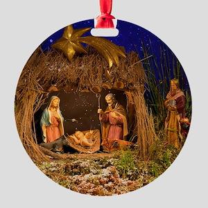 Nativity scene Round Ornament