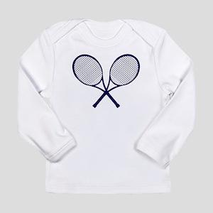Crossed Rackets Silhouette Long Sleeve T-Shirt