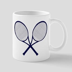Crossed Rackets Silhouette Mugs