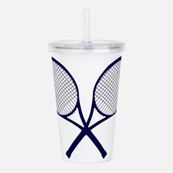Crossed Rackets Silhou Acrylic Double-wall Tumbler