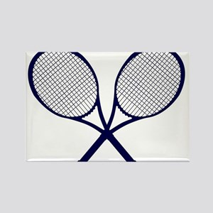 Crossed Rackets Silhouette Magnets