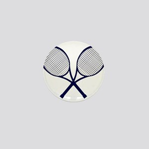 Crossed Rackets Silhouette Mini Button