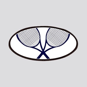 Crossed Rackets Silhouette Patch