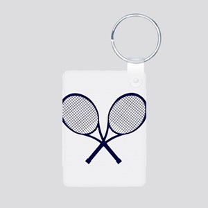 Crossed Rackets Silhouette Keychains