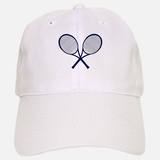 Crossed Rackets Silhouette Baseball Baseball Cap