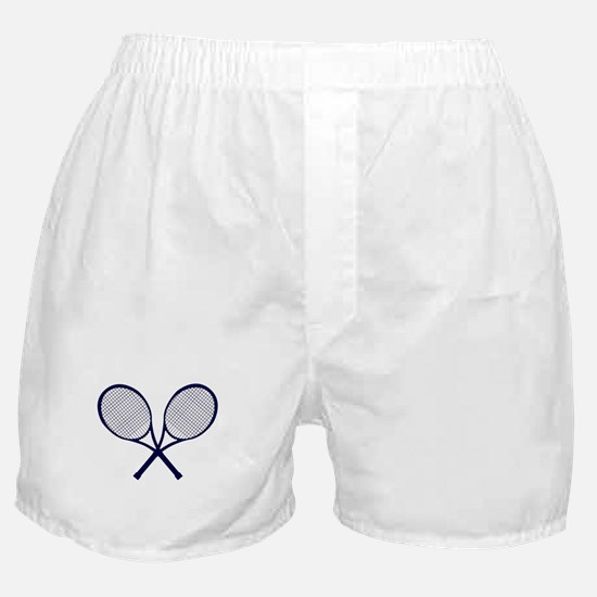 Crossed Rackets Silhouette Boxer Shorts