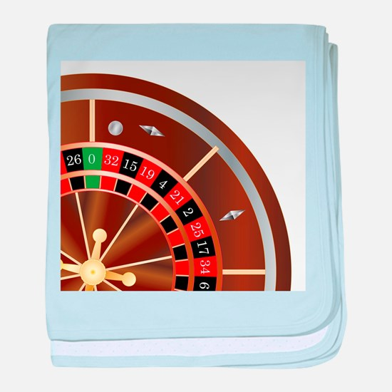 Roulette Wheel Spin baby blanket
