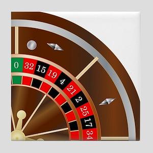 Roulette Wheel Spin Tile Coaster