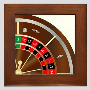 Roulette Wheel Spin Framed Tile