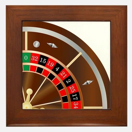 Roulette Wheel Spin Framed Tile