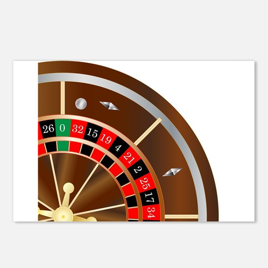 Roulette Wheel Spin Postcards (Package of 8)