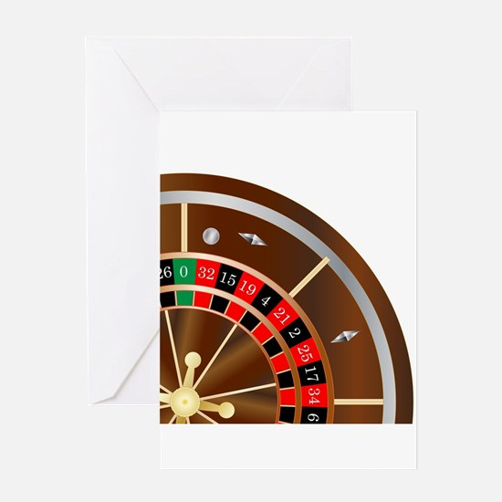 Roulette Wheel Spin Greeting Cards