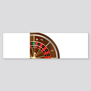 Roulette Wheel Spin Bumper Sticker