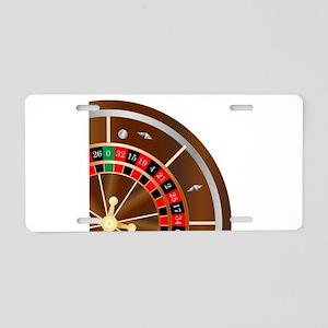 Roulette Wheel Spin Aluminum License Plate