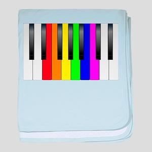 Trans Gay Piano Keys baby blanket